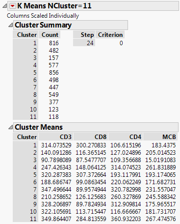Example of K Means Cluster