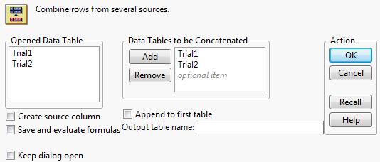 Concatenate Data Tables