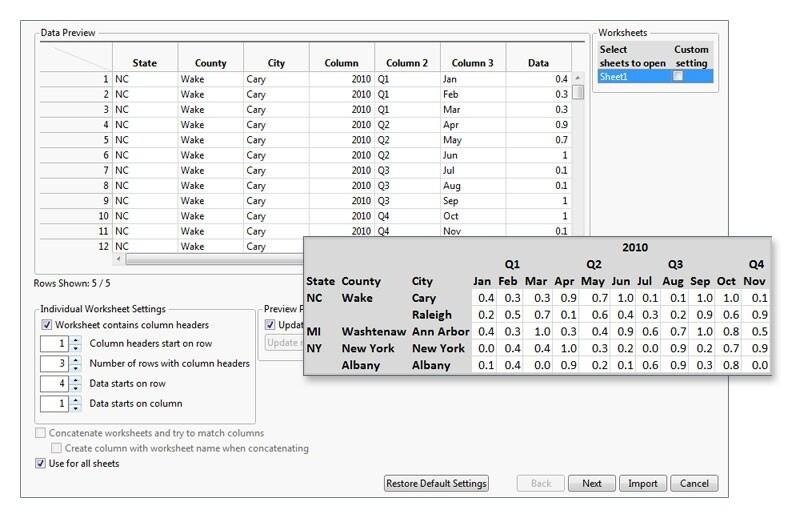 Excel导入向导
